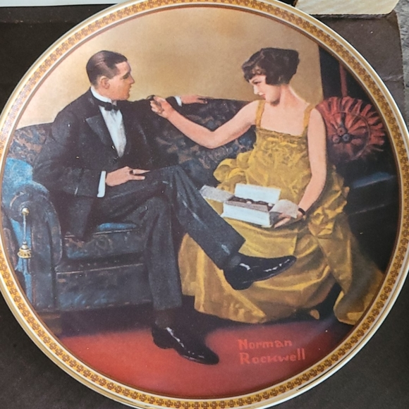 Norman Rockwell flirting in The Parlor